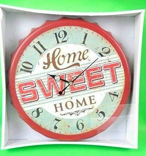 Posten Anker Wanduhr American Diner Home Sweet Home   Küchenuhr stylisch   Kronkorken Design Wanduhr