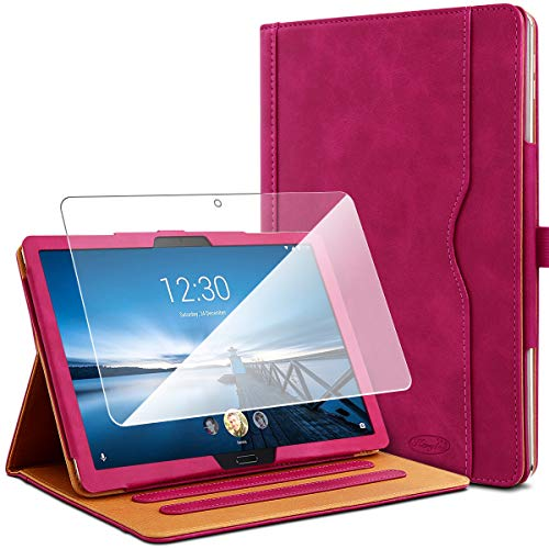 KARYLAX Pack of Protective Case in Pink + 1 Tempered Glass Screen Protector for Lenovo Tab M10 HD 10.1 Inches
