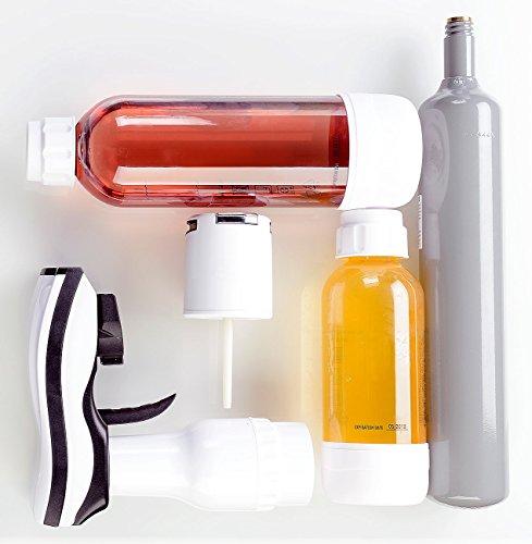 Rosenstein & Söhne Trinkwassersprudler: Getränke-Sprudler für Soda-Wasser, Softdrinks, Saft-Schorle, Limonade (Multi Getränke und Wassersprudler) - 9