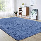 MENGH Badewanne Teppich 140x220cm, Vorleger, Farbecht, Pflegeleicht, fürWohnzimmerSchlafzimmeroderKinderzimmer, Blau
