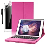 """iPad Air 2019(3rd Gen)10.5""""/iPad Pro 10.5""""2017 Keyboard Case,Boriyuan Smart Case Stand Folio Leather Cover with Detachable Keyboard and Screen Protector +Stylus for Apple iPad Pro 10.5 inch - Rose Red [並行輸入品]"""