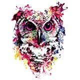 MXJSUA 5D Diamond Painting by Number Kit DIY Crystal Rhinestone Arts Craft Picture Supplies Home Wall Decor Watercolor Owl 12x12In