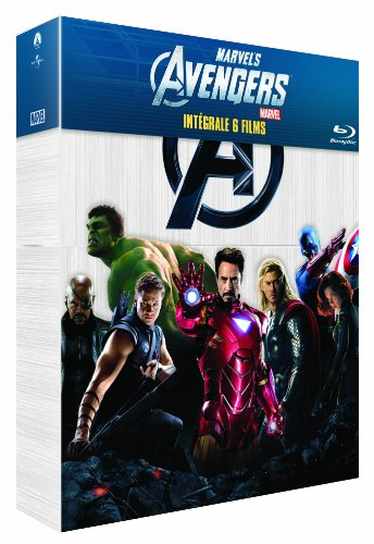 Marvel complete collection : iron man ; iron man 2 ; the incredible hulk ; thor ; captain america [Blu-ray] [FR Import]