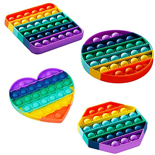4 Pack Pop it Fidget Toy Set Barato Juego Antiestrés Gigante Push Pop Burbujas Sensory Fidgets...