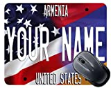 BRGiftShop Personalize Your Own Mixed USA and Armenia Flag Mouse Pad