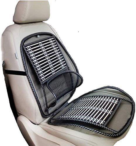 BYBTT Cooling Car Seat Kissen, Sitzbezüge Komfort-holzperlen Kühlen Sitzpolstern Universell Fit In Voller Größe Auto-sitzkissen Ventilere Luftströmung Für Fahrzeug-fahrersitz-a