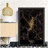 xiongda Medellin Kolumbien Schwarz & Gold Stadtlichtkarten