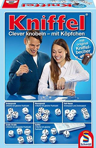 Schmidt Spiele 49030 Kniffel mit Würfelbecher, Familienspiel, bunt