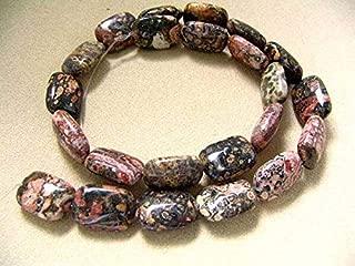 Wild Leopard Skin Jasper Focal Bead Strand for Jewelry Making 107364