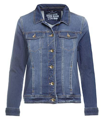 SOCCX Damen Jeansjacke aus Sweat-Denim