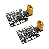 2Packs Power Distribution Board Matek PDB-XT60 with BEC 5V and 12V 2oz Copper for RC Helicopter Quadcopter FPV Racing
