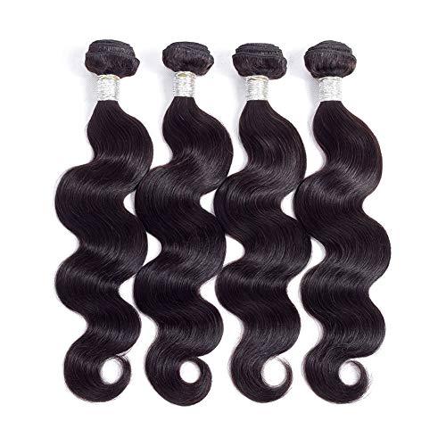 8A Brazilian Virgin Hair Body Wave Bundles 14 16 18 20inches 280g Unprocessed Human Hair Weave Brazilian Virgin Body Wave Hair Extensions Natural Color