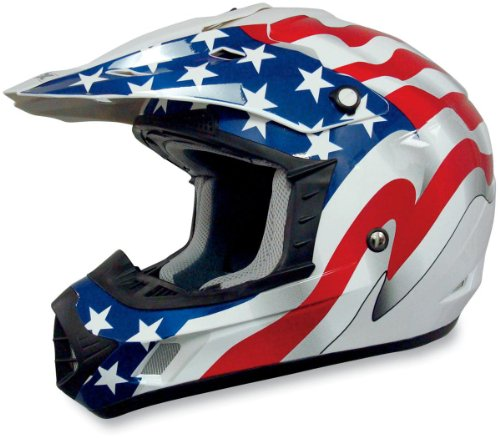 AFX FX-17 Unisex-Adult Off-Road-Helmet-Style Helmet (Flag White, Large)