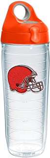 Tervis NFL Cleveland Browns Primary Logo Tumbler with Emblem and Orange Lid 24oz Water Bottle, Clear