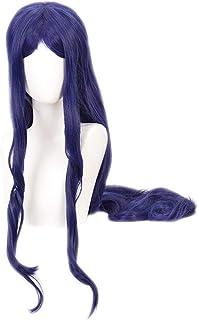 Danganronpa Shirogane Tsumugi Wig Anime Danganronpa Long Purple Hair Wig with Cap for Cosplay Halloween Party