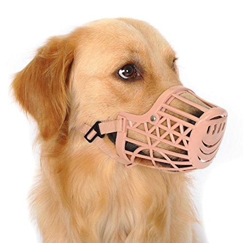 Alfie Pet - Gabby Adjustable Quick Fit Plastic Muzzle - Color: Beige, Size: M