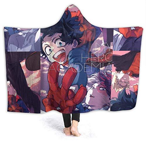 EOPRO My Hero Mha Academia - Manta con capucha para niños (122 x 102 cm)