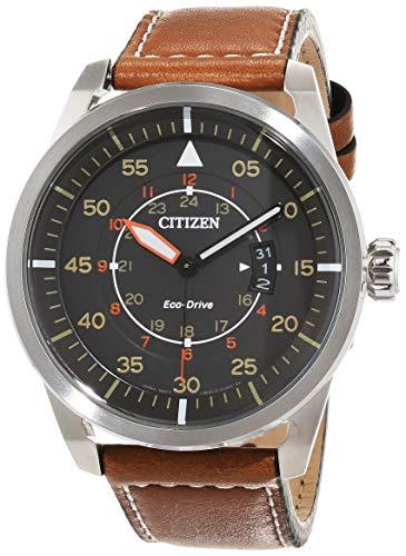Citizen Reloj Analógico para Hombre de Cuarzo con Correa en Cuero AW1360-12H