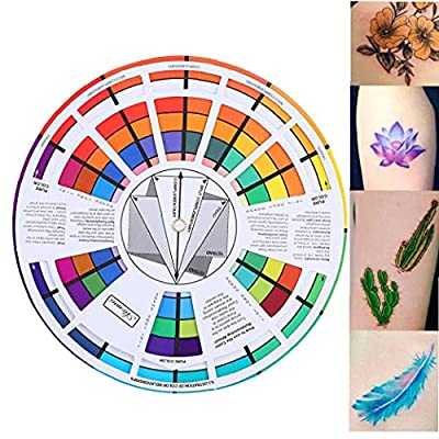 Color Wheel Paper Mix Card Chromatic Circle Guide Supplies Chromatography Tattoo Nail Pigment