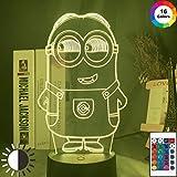 vhidfsjgdsfikDespicable Me Led Nachtlicht Farbwechsel Touch Sensor Nachtlicht für Kinder Kinder Schlafzimmer Dekor Little Minion 3d Lampe Nachttisch