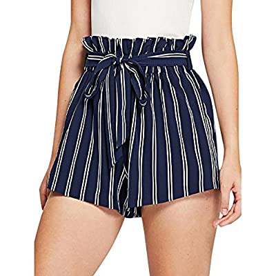 RAINED-Women's Fashion Shorts Summer Solid Color Beach Harem Casual Short Elastic Waist Bowknot Harem Pants