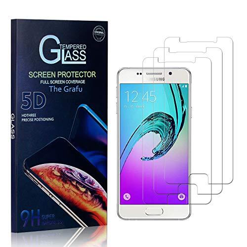 The Grafu Vetro Temperato per Galaxy A3 2016, 0.26mm Alta Trasparenza, Pellicola Protettiva in Vetro Temperato Compatibile con Samsung Galaxy A3 2016, Nessuna Bolla, 3 Pezzi