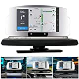 Guer Car HUD Display,Driving HUD Head Up Display,GPS Navigation Windshield Projector,HD Phone Holder for All...