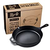 Fresh Australian Kitchen Poêle à frire en fonte polie 30 cm Passe au four