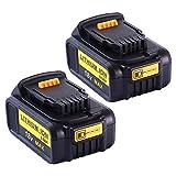 2X Moticett 18V 5,0Ah Batterie de remplacement pour Dewalt Li-ion DCB184 DCB184B-XJ DCB183 DCB183-XJ DCB182 DCB182-XJ DCB181 DCB181-XJ DCB185-XE