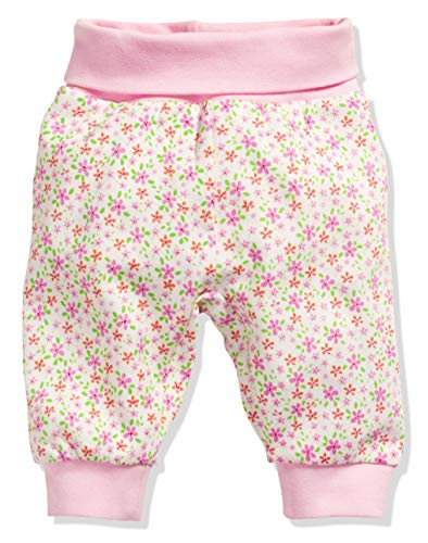 Schnizler Baby-Mädchen Pumphose Interlock Blumen Jogginghose, Beige (Beige 6), 98