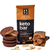 Perfect Keto Bars | Cleanest Keto Snacks with Collagen and MCT. No Added Sugar, Keto Diet Friendly - 3g Net Carbs, 17g Fat, 13g Protein - Keto Diet Food Dessert (Peanut Butter Choc Chip)
