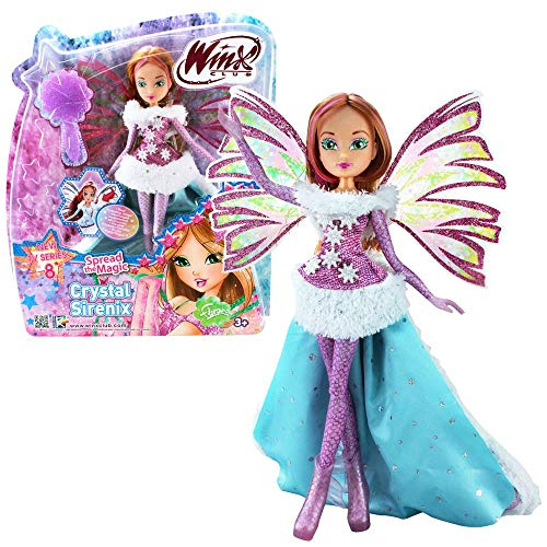Winx Club Flora | Crystal Sirenix Puppe Bewegliche Flügel | Staffel 8
