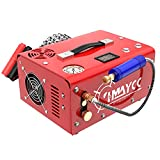 IMAYCC Portable PCP Air Compressor, 4500Psi/30Mpa, 8MM Quick-Connector Compatible for Paintball/pcp air gun/Scuba Tank with Water/Oil Separator,Small air compressor Powered by Car 12V or Home 110V AC