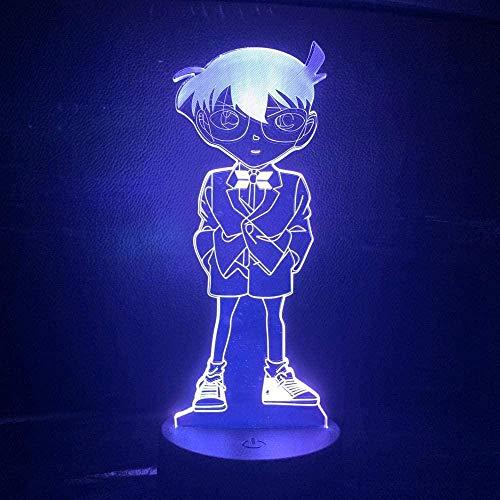 Lampe De Nuit3D Illusion Lampe Anime Détective Conan Figure Lampe De Nuit Pour Enfant Chambre Unique Bébé Veilleuse Manga Cas Fermé Enfants 3D Led Night Light Cadeau