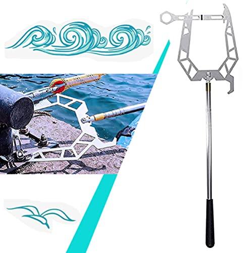 Telescopic Boat Hook and Rope for Boat--Enhebrador de Larga Distancia Fácil,Gancho de Muelle Multiusos Polivalente