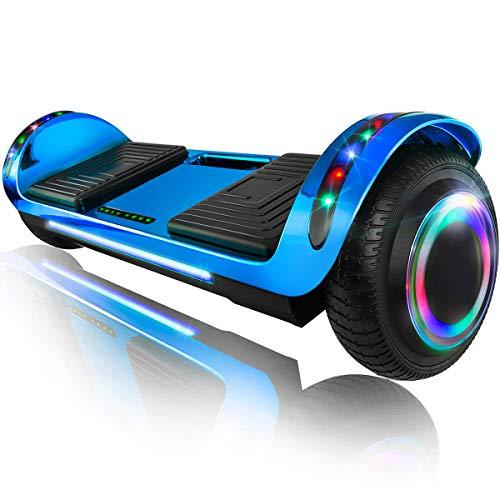 XPRIT 6.5' Hoverboard Self-Balance Two Wheel w/Built-in Wireless Speaker (Chrome Blue, 6.5'' Wheel)