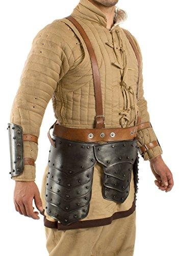 Jambe poches Dark Warrior en acier hanche Protection Protège hanches Schau la lutte tauglich LARP médiéval viking S Silber