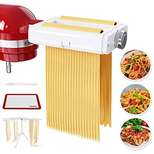 Pasta Maker Attachment for Kitchenaid Mixer, Ohuhu 3 in 1 Pasta...