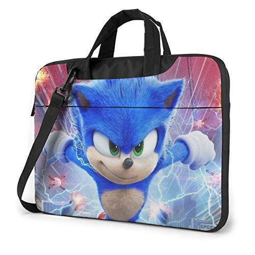 Son-Ic The Hedgehog Shakeproof Waterproof Laptop Messenger Shoulder Bag Case Sleeve Briefcase with Adjustable Shoulder Strap for 13 Inch 14 Inch 15.6 Inch