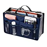 Trifycore Convenient Dual Zippers Handbag Multifunctional Sorting Makeup Bag Portable Luggage Organizer Insert with 13 Components 1, Packing Bags