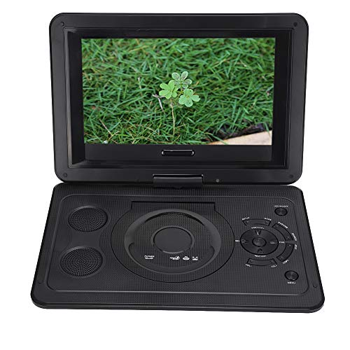 PUSOKEI Reproductor de DVD Portátil de 13,9 Pulgadas,Reproductor de DVD Multifunción LCD, Batería Recargable, Soporte para Salida de TV/AV/CD/DVD/Tarjeta SD/USB Y Múltiples Formatos de Disco(Negro)