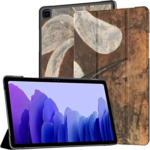 Funda para Samsung Galaxy Tab A7 Tableta de 10,4 Pulgadas 2020 (sm-t500 / t505 / t507), Pintura al óleo de pájaro Imaginario Coronado, Soporte de múltiples ángulos con activación/Reposo automático