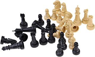 dailymall Premium Chess Pieces Only Spare Plastic Checkers Replacement (Wood + Black)