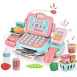 JoyGrow Smart Cash Register, Pretend Play Supermarket Shop Toys with Calculator and Working