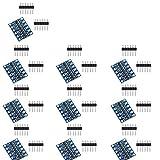 10 pezzi 3,3 V a 5 V Level Shifter 4 canali - Convertitore di livello IIC I2C Logik Level Converter, modulo shifter bidirezionale per microcontroller Arduino Raspberry Pi
