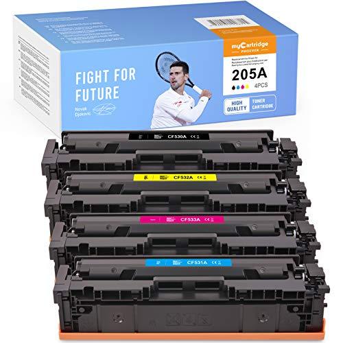 MyCartridge PHOEVER Toner Compatible para HP 205A CF530A CF531A CF532A CF533A para HP Color Laserjet Pro M154A M154NW M180 M180N M181 M181FW (Negro/Cian/Magenta/Amarillo)