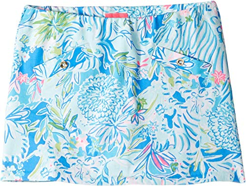 Lilly Pulitzer Kids Girl's Mini Madison Skort (Toddler/Little Kids/Big Kids) Coastal Blue Lion Around LG (8/10 Big Kids)
