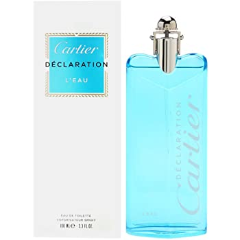 Cartier Declaration L'Eau Eau De Toilette Spray, 3.3 Ounce