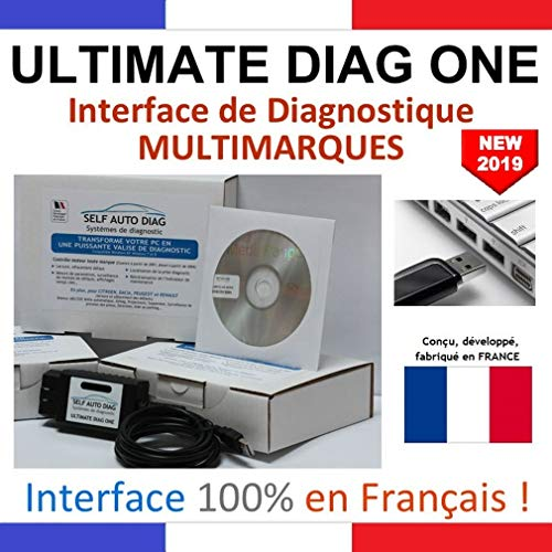 ULTIMATE DIAG ONE - Interface de diagnostic MULTIMARQUES – Version clé USB - Valise diagnostique auto multimarque en francais de SELF AUTO DIAG