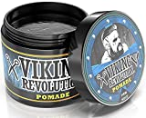 Viking Revolution Pomade for Men – Style & Finish Your Hair - Firm Strong Hold & High Shine for Men's Styling Support - Water Based Male Grooming Product is Easy to Wash Out, 4oz (1 Pack, Matte)
